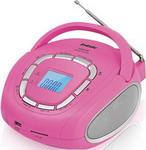 Магнитола BBK BS 05 розовый/серебро
