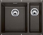 Кухонная мойка BLANCO SUBLINE 340/160-U SILGRANIT кофе с клапаном-автоматом (чаша слева)