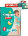 ��������� Pampers Pants Junior 12-18 ��, 5 ������, 15 ��