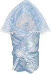 Конверт МАРГАРИТА Конверт МАРГАРИТА Из атласа с накидкой  кружево органза  весна-осень  синтепон пл. 200 (голубой)