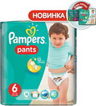 Подгузник Pampers Pants Extra Large 16+ кг, 6 размер, 19 шт