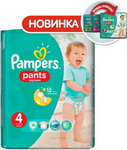 ��������� Pampers Pants Maxi 9-14 ��, 4 ������, 16 ��