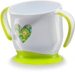 Посуда для детей Happy Baby BABY CUP WITH SUCTION BASE 15022 LIME