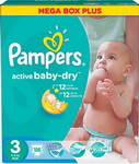 ��������� Pampers Activ Baby-Dry 4-9 �� 3 ������ 186 ��