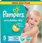 Подгузник Pampers Active Baby-Dry 11-18 кг 5 размер 132 шт
