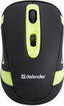Мышь Defender Magnifico MM-505 black+green 52505