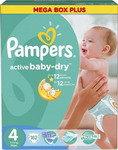 ��������� Pampers Active Baby-Dry 7-14 �� 4 ������ 162 ��