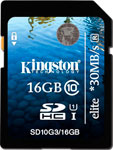 Карта памяти Kingston SDHC 16 Gb Class 10 (SD 10 G3/16 GB)
