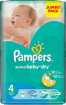 Подгузник Pampers Подгузник Pampers Active Baby-Dry Maxi 7-14 кг 4 размер 70 шт