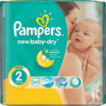 Подгузник Pampers New Baby-Dry Mini 3-6 кг, 27 шт