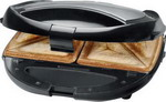 Бутербродница + вафельница Clatronic ST/WA 3490 schwarz-inox