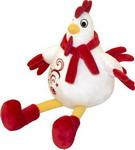 Мягкая игрушка Gulliver Цыпленок Петя с вышивкой красно-белый