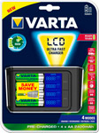 Зарядное устройство VARTA LCD Fast Charger+4x 2400 mAh+12 V (57675101441)