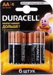 ��������� Duracell LR6/MN 1500-6BL BASIC AA