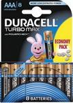 ��������� Duracell LR 03/MX 2400-8BL Turbo Max AAA (6+2)