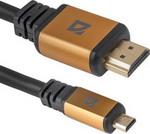 Кабель Defender HDMI 08-04 PRO(ver1.4) 1m 87462