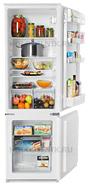 Встраиваемый двухкамерный холодильник Zanussi