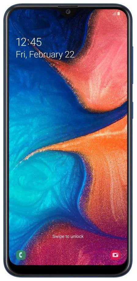 eda443b89696 Смартфон Samsung Galaxy A 20 32 GB SM-A 205 F (2019) черный купить в ...