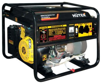 Электрический генератор и электростанция Huter DY 6500 LX- электростартер генератор huter dy6500lx электростартер 5000вт