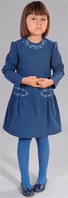 Фото - Платье Fleur de Vie 24-2160 рост 122 индиго брюки fleur de vie 24 2182 рост 122 черные