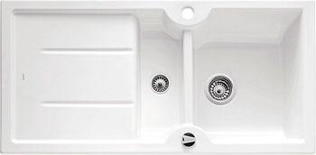 Кухонная мойка BLANCO IDESSA 6 S КЕРАМИКА глянцевый белый с клапаном-автоматом кухонная мойка pegas 53 0 6 шлифованный глянцевый 530w ст