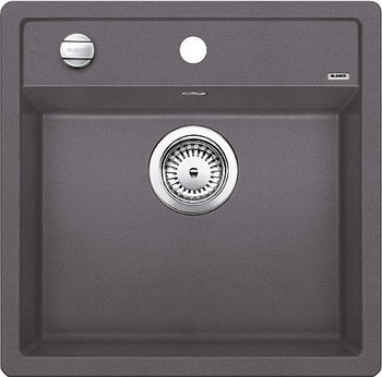 Кухонная мойка BLANCO DALAGO 5-F SILGRANIT темная скала с клапаном-автоматом мойка blanco dalago 45 silgranit puradur 518846 тёмная скала размер шхд 46 5см х 51см