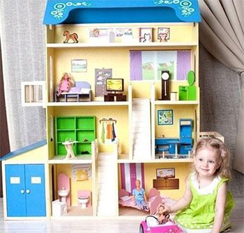 Кукольный дом для Барби Paremo PD 316 Лира (28 предметов мебели 2 лестницы гараж) цена и фото