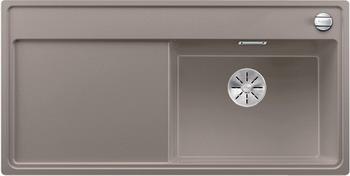 Кухонная мойка BLANCO ZENAR XL 6S (чаша справа) SILGRANIT серый беж с кл.-авт. InFino 523951 кухонная мойка blanco zenar xl 6s чаша справа silgranit шампань с кл авт infino 523950