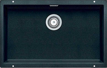Фото - Кухонная мойка BLANCO 523442 SUBLINE 700-U SILGRANIT антрацит с отв.арм. InFino кухонная мойка blanco subline 400 u silgranit антрацит с отв арм infino 523422