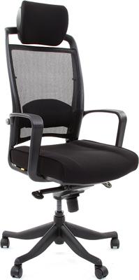 Кресло Chairman 283 черный кресло офисное персона persona доступные цвета обивки искусств чёрная кожа