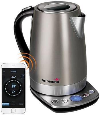 Чайник электрический Redmond RK-M 173 S-E серый цена и фото