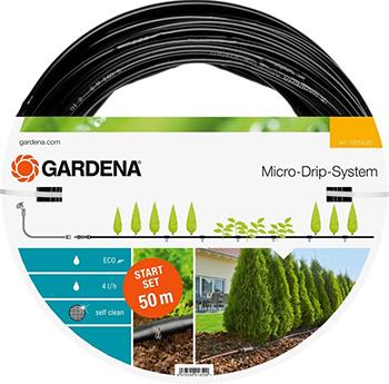 """Шланг сочащийся Gardena для наземной прокладки 13 мм (1/2"""") х 50 м с фитингами и мастер-блоком 13013-20 цена и фото"""