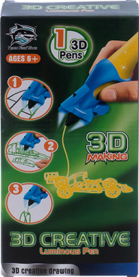 цена 3D-ручка 3D Making светящиеся чернила цвет желтый 1CSC 20003388 онлайн в 2017 году
