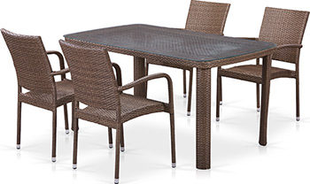 Комплект мебели Афина T 51 A/Y 376-W 773-150 x 85 Brown 4Pcs