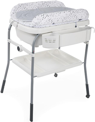 цена Пеленальный столик с ванночкой Chicco Cuddle & Bubble Comfort (Cool Grey) в интернет-магазинах