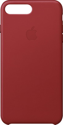 Чехол (клип-кейс) Apple Leather Case для iPhone 8 Plus/7 Plus цвет (PRODUCT)RED красный MQHN2ZM/A цена и фото
