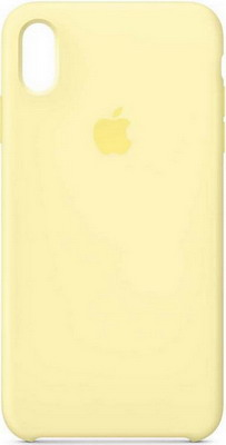 Чехол (клип-кейс) Apple Silicone Case для iPhone XS Max цвет (Mellow Yellow) лимонный крем MUJR2ZM/A клип кейс guess kaia для apple iphone xs черный