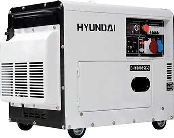 Электрический генератор и электростанция Hyundai DHY 8000SE-3 hyundai matrix расход топлива