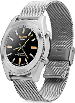 Умные часы NO.1 S9 серебро ремешок сталь (NO.1S9SS)