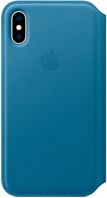 Чехол (флип-кейс) Apple Leather Folio для iPhone XS цвет (Cape Cod Blue) лазурная волна MRX02ZM/A аксессуар чехол apple iphone xs leather folio forest green mrwy2zm a
