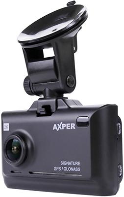 Автомобильный видеорегистратор Axper Combo Hybrid 2CH Wi (черный)
