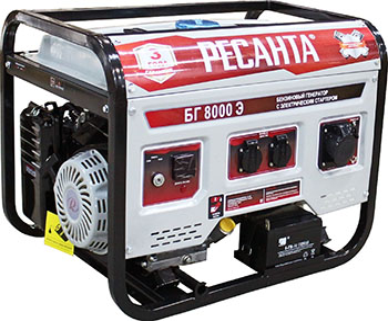 Электрический генератор и электростанция Ресанта БГ 8000 Э