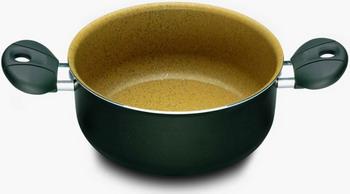 Кастрюля ILLA Bio-Cook OIL с 2-мя ручками без крышки 24 см. 4 5 л (BO3624) кастрюля lara lr02 301 24 см 4 5 л литой алюминий