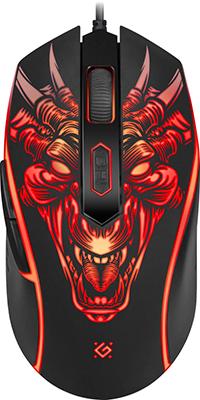 Проводная игровая мышь Defender Monstro GM-510L оптика 6кнопок 3200dpi (52510)