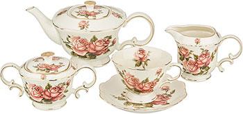 Чайный сервиз на 6 персон Hangzhou ''Корейская роза'' 15 пр. 030-829