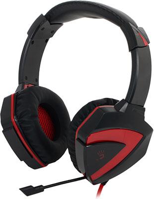 Компьютерная гарнитура A4Tech Bloody G500 черный/красный гарнитура a4tech bloody g500 black