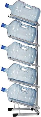Стеллаж для хранения воды HotFrost для 5 бутылей металл серебристый 251000502 451885