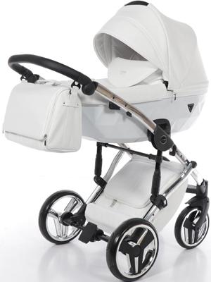 коляски 2 в 1 Коляска детская 2 в 1 Junama INDIVIDUAL JDI-05 (белый/рама серебро)