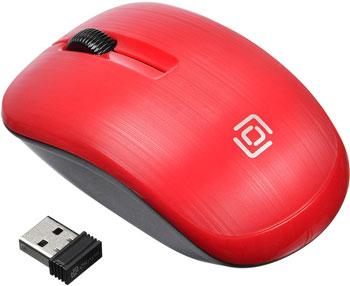 Беспроводная мышь Oklick 525MW красный оптическая (1000dpi) беспроводная USB (2but) мышь microsoft bluetooth черный оптическая 1000dpi беспроводная bt 2but