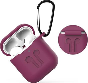Фото - Чехол Eva для наушников Apple AirPods 1/2 с карабином - Фиолетовый (CBAP01PR) ваза для цветов art east жостово 30 см бочка фиолетовый